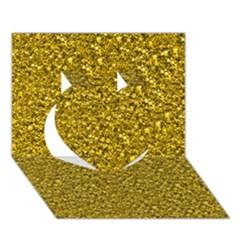 Sparkling Glitter Golden Heart 3d Greeting Card (7x5)