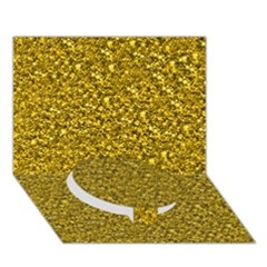 Sparkling Glitter Golden Circle Bottom 3d Greeting Card (7x5)