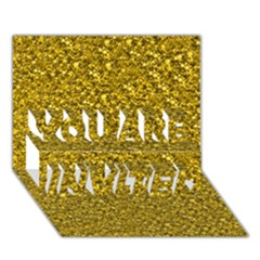 Sparkling Glitter Golden You Are Invited 3d Greeting Card (7x5)