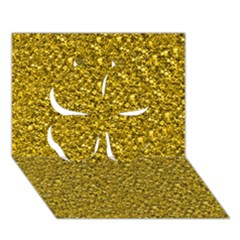 Sparkling Glitter Golden Clover 3d Greeting Card (7x5)