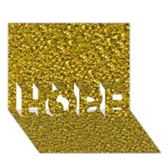 Sparkling Glitter Golden HOPE 3D Greeting Card (7x5)
