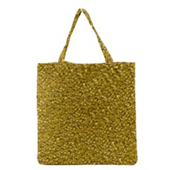 Sparkling Glitter Golden Grocery Tote Bags