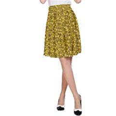 Sparkling Glitter Golden A-Line Skirts