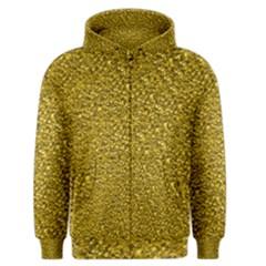 Sparkling Glitter Golden Men s Zipper Hoodies