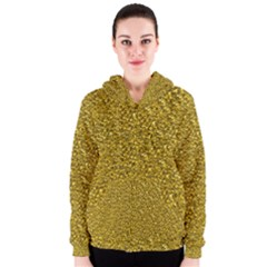 Sparkling Glitter Golden Women s Zipper Hoodies