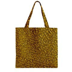 Sparkling Glitter Golden Zipper Grocery Tote Bags