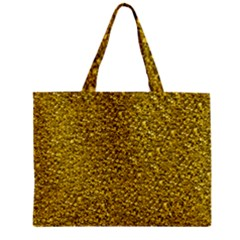 Sparkling Glitter Golden Zipper Tiny Tote Bags