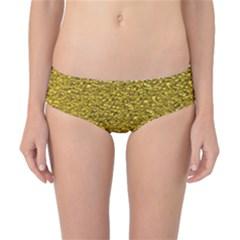 Sparkling Glitter Golden Classic Bikini Bottoms