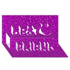 Sparkling Glitter Hot Pink Best Friends 3d Greeting Card (8x4)