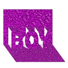 Sparkling Glitter Hot Pink Boy 3d Greeting Card (7x5)