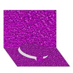 Sparkling Glitter Hot Pink Circle Bottom 3D Greeting Card (7x5)
