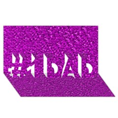 Sparkling Glitter Hot Pink #1 DAD 3D Greeting Card (8x4)