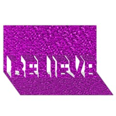 Sparkling Glitter Hot Pink Believe 3d Greeting Card (8x4)