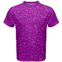 Sparkling Glitter Hot Pink Men s Cotton Tees