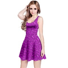 Sparkling Glitter Hot Pink Reversible Sleeveless Dresses