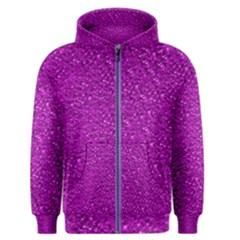 Sparkling Glitter Hot Pink Men s Zipper Hoodies