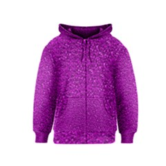 Sparkling Glitter Hot Pink Kids Zipper Hoodies