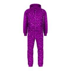 Sparkling Glitter Hot Pink Hooded Jumpsuit (Kids)