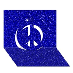 Sparkling Glitter Inky Blue Peace Sign 3D Greeting Card (7x5)