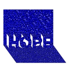 Sparkling Glitter Inky Blue Hope 3d Greeting Card (7x5)