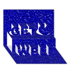 Sparkling Glitter Inky Blue Get Well 3D Greeting Card (7x5)