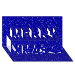Sparkling Glitter Inky Blue Merry Xmas 3d Greeting Card (8x4)