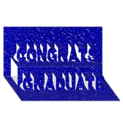 Sparkling Glitter Inky Blue Congrats Graduate 3D Greeting Card (8x4)