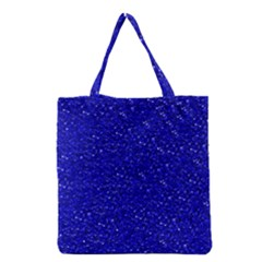 Sparkling Glitter Inky Blue Grocery Tote Bags