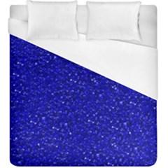 Sparkling Glitter Inky Blue Duvet Cover Single Side (kingsize)