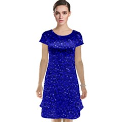 Sparkling Glitter Inky Blue Cap Sleeve Nightdresses