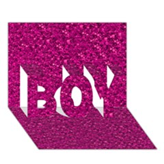 Sparkling Glitter Pink Boy 3d Greeting Card (7x5)