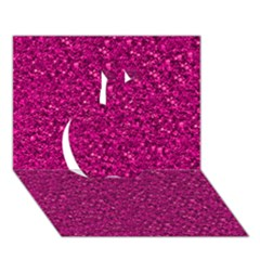 Sparkling Glitter Pink Apple 3d Greeting Card (7x5)