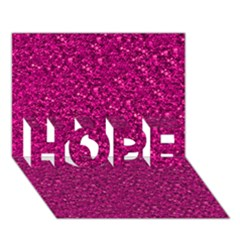 Sparkling Glitter Pink HOPE 3D Greeting Card (7x5)
