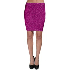Sparkling Glitter Pink Bodycon Skirts