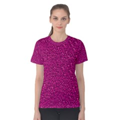 Sparkling Glitter Pink Women s Cotton Tees