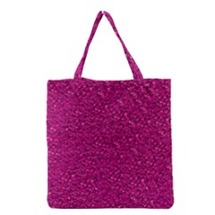 Sparkling Glitter Pink Grocery Tote Bags