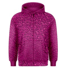 Sparkling Glitter Pink Men s Zipper Hoodies