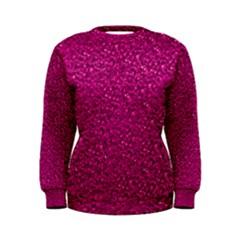 Sparkling Glitter Pink Women s Sweatshirts