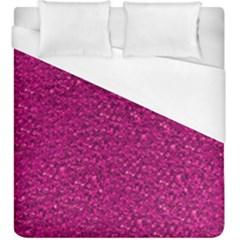 Sparkling Glitter Pink Duvet Cover Single Side (kingsize)