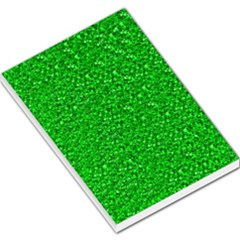 Sparkling Glitter Neon Green Large Memo Pads