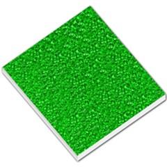 Sparkling Glitter Neon Green Small Memo Pads