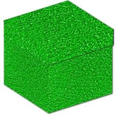 Sparkling Glitter Neon Green Storage Stool 12