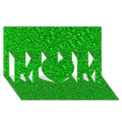 Sparkling Glitter Neon Green MOM 3D Greeting Card (8x4)