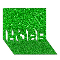 Sparkling Glitter Neon Green HOPE 3D Greeting Card (7x5)