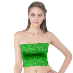 Sparkling Glitter Neon Green Women s Tube Tops