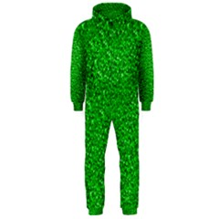 Sparkling Glitter Neon Green Hooded Jumpsuit (Men)