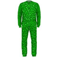 Sparkling Glitter Neon Green OnePiece Jumpsuit (Men)