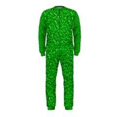 Sparkling Glitter Neon Green OnePiece Jumpsuit (Kids)