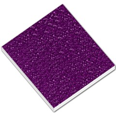 Sparkling Glitter Plum Small Memo Pads
