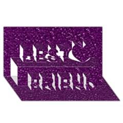 Sparkling Glitter Plum Best Friends 3D Greeting Card (8x4)